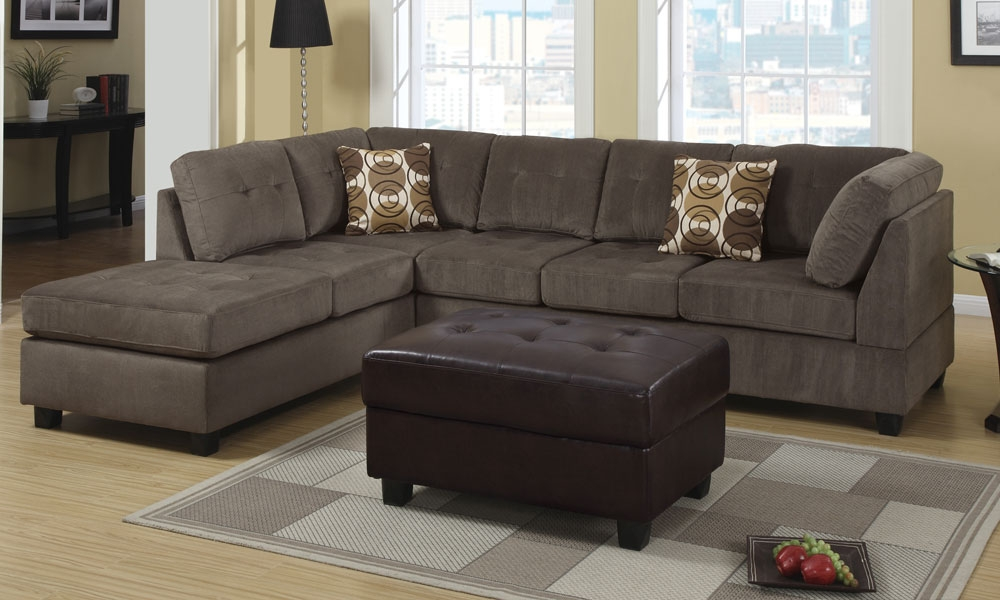 Chic Modern 2 Pieces Sectional 3 Seat Sofa Couch Reversible Chaise Intended For 2 Seat Sectional Sofas (#2 of 15)