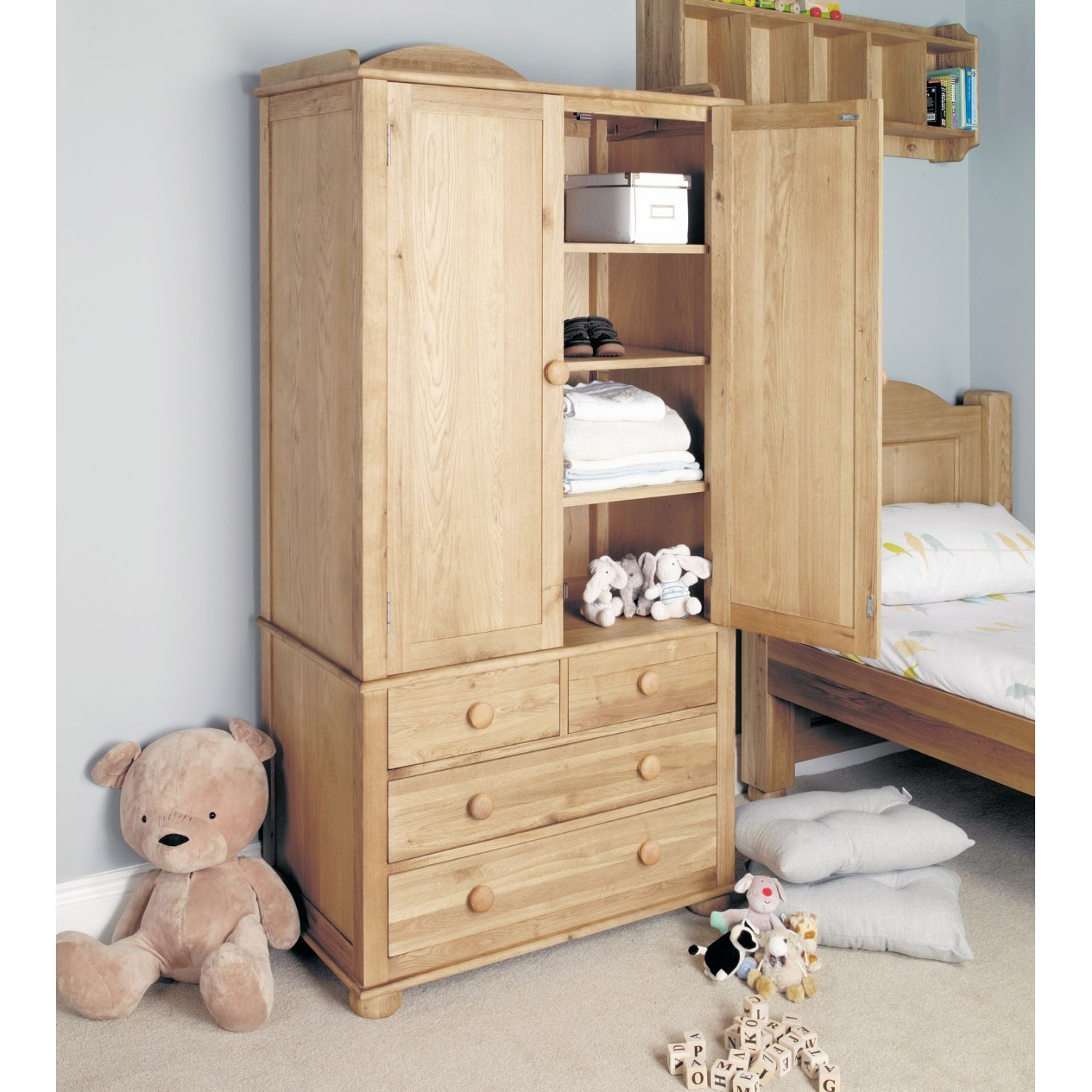 Childrens Wardrobes With Shelves Awesome Interior In Wardrobe With Shelves And Drawers (View 6 of 15)