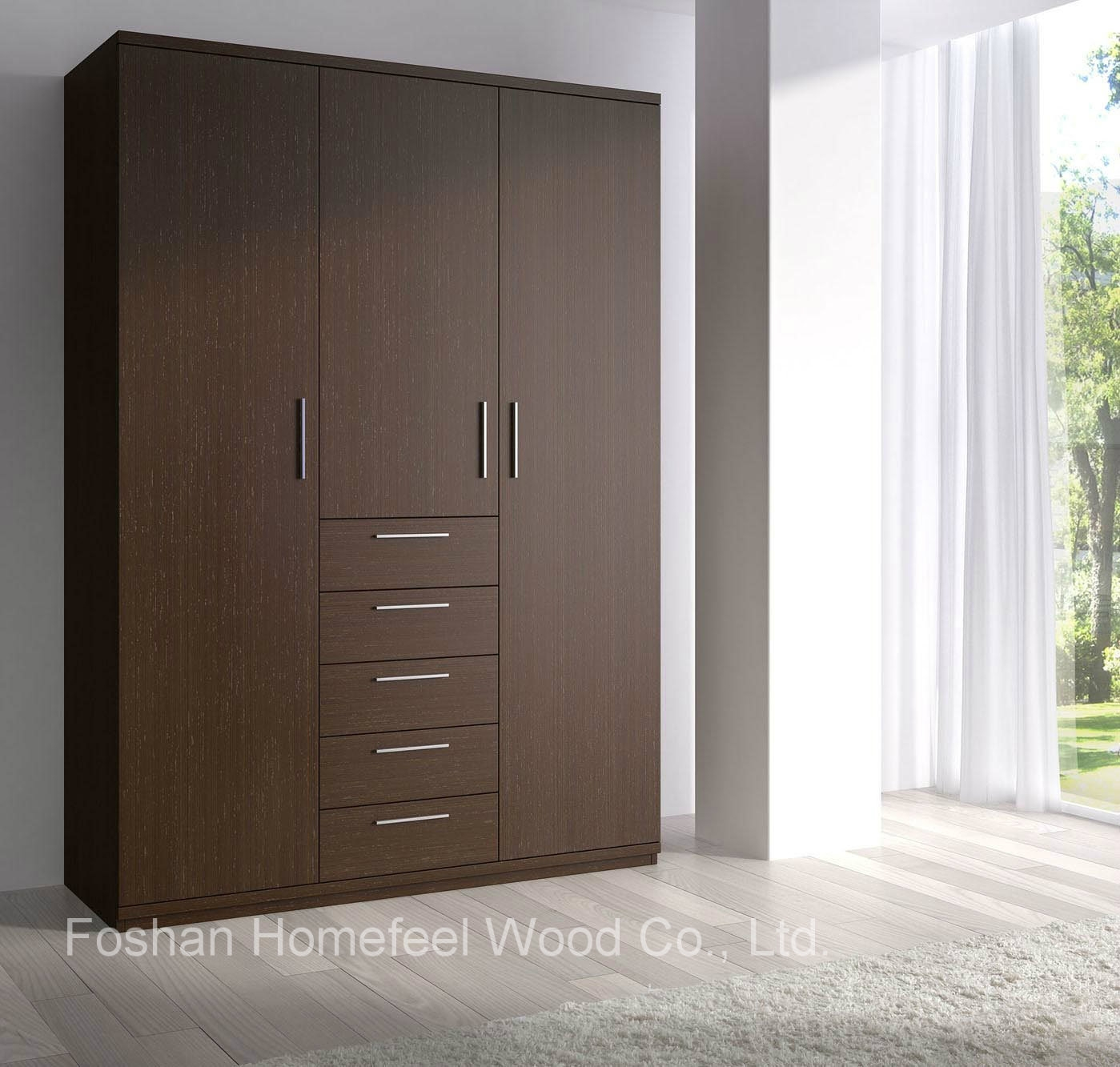 15 best ideas of solid dark wood wardrobes for Wardrobe cabinet design woodworking plans