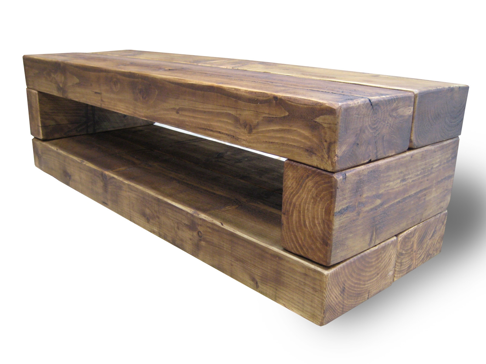 Chunky Stretch Tv Stand The Cool Wood Company For Handmade Tv Unit (View 2 of 15)