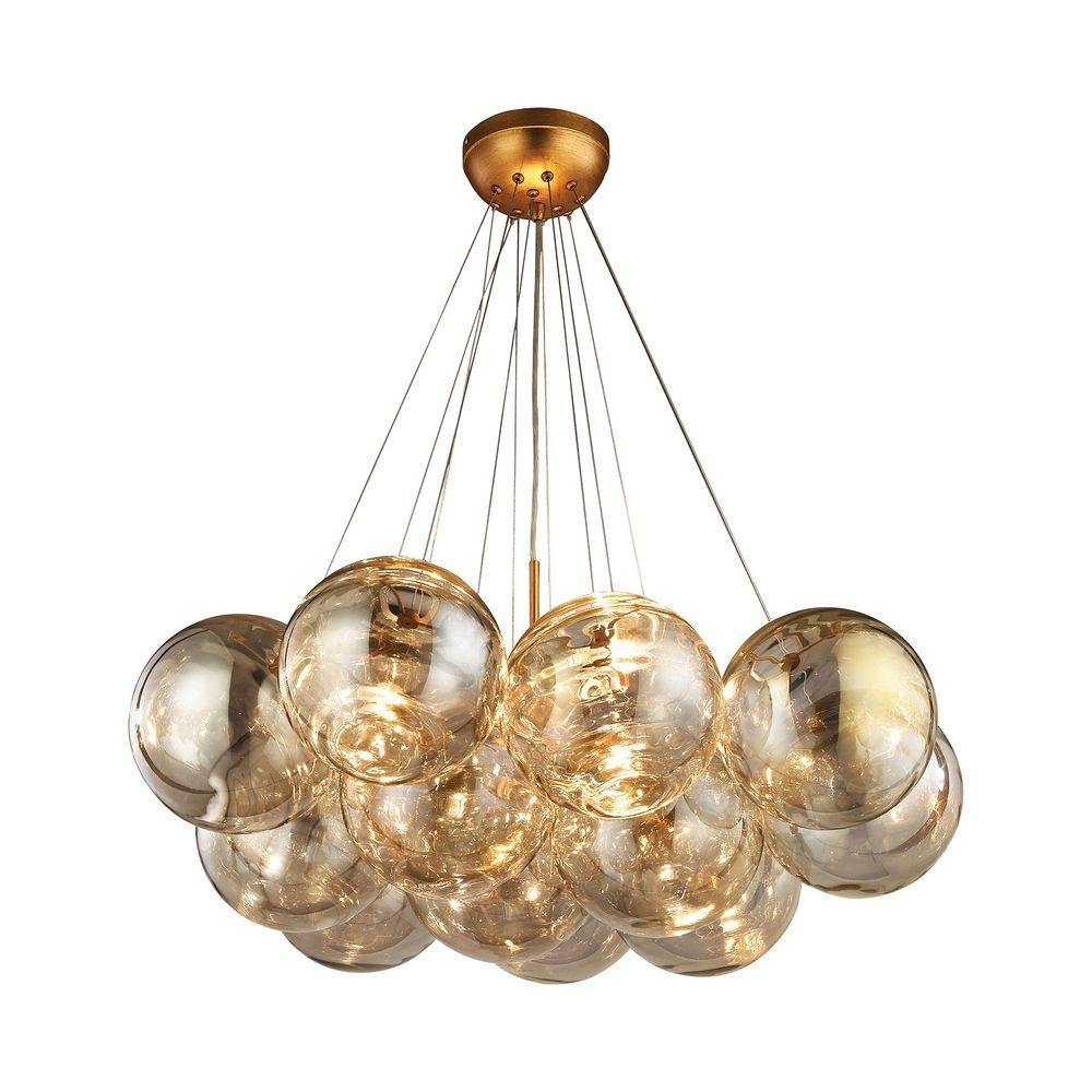 Cielo 3 Light Antique Gold Leaf Chandelier Tn 999698 The Home Depot With Regard To Gold Leaf Chandelier (#2 of 12)