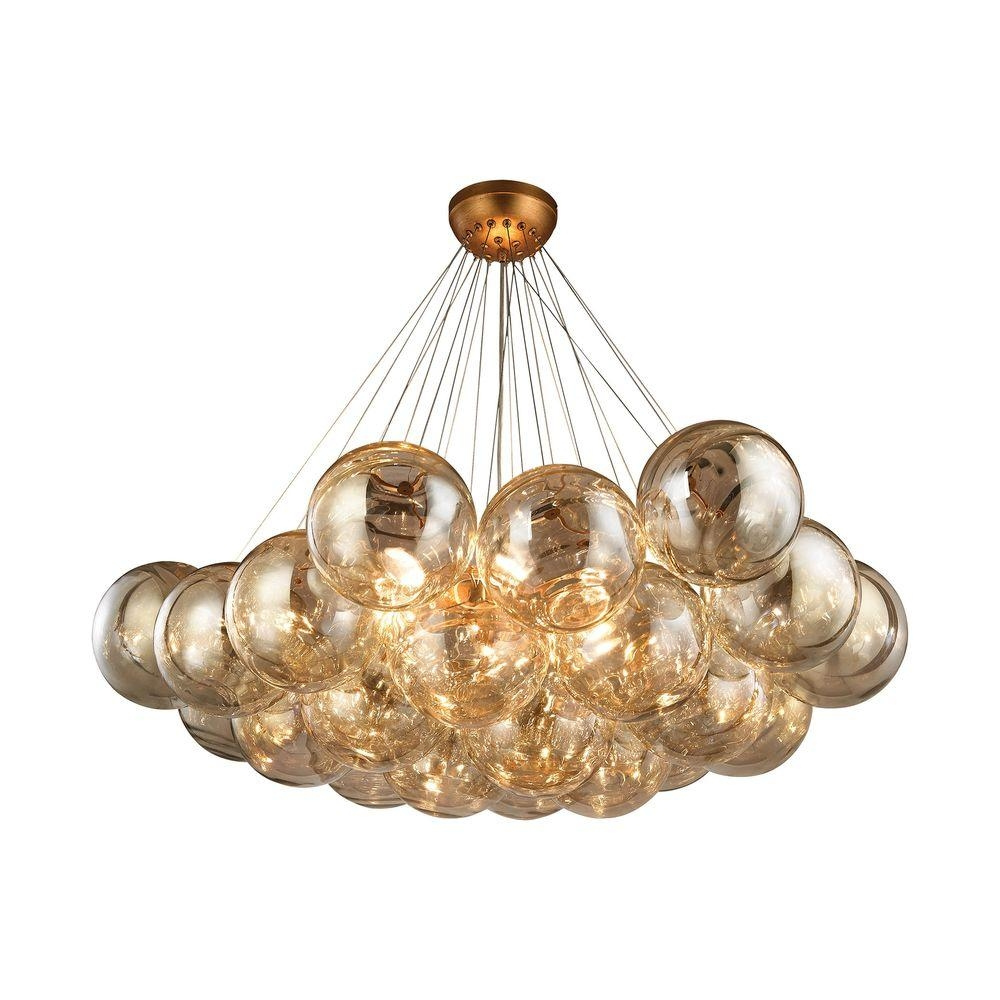Cielo 6 Light Antique Gold Leaf Chandelier Tn 999699 The Home Depot In Gold Leaf Chandelier (#3 of 12)