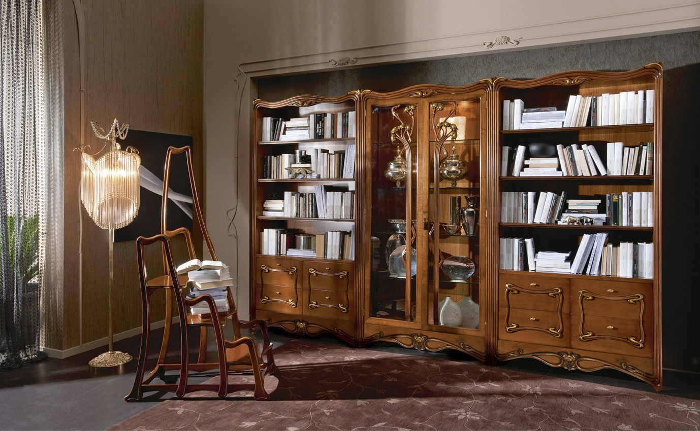 Classic Bookcase Wooden Liberty Medea Within Classic Bookcase (#2 of 15)