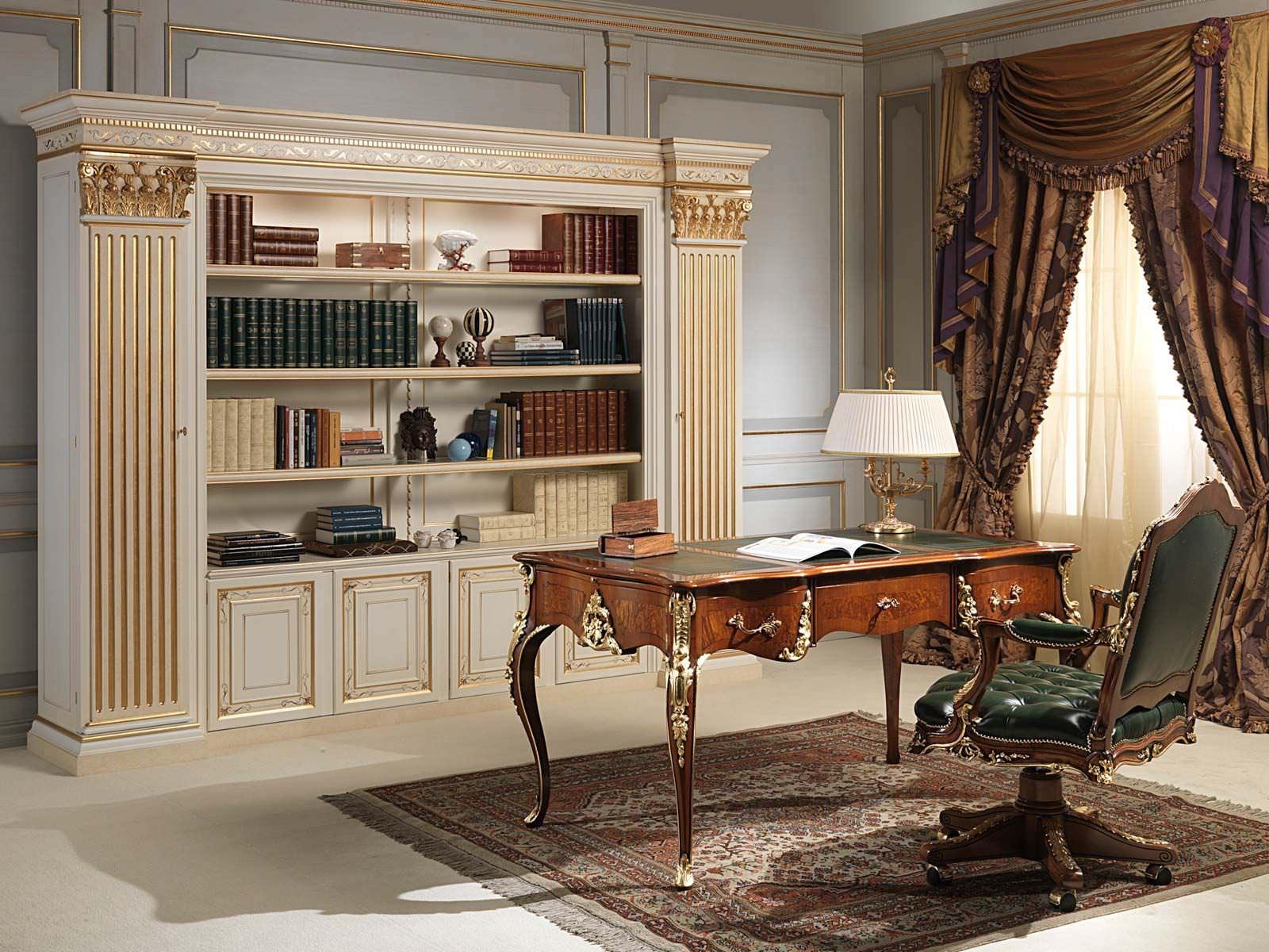 Classic Bookcase Wooden Vimercati Meda Luxury Classic Furniture Within Classic Bookcase (#5 of 15)
