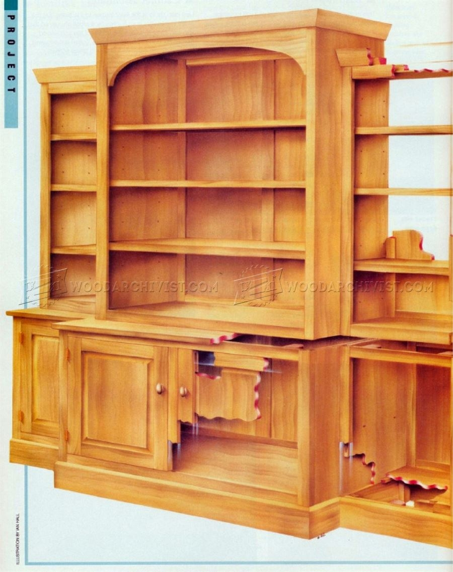 Classic Breakfront Bookcase Plans Woodarchivist Inside Breakfront Bookcase (View 7 of 15)