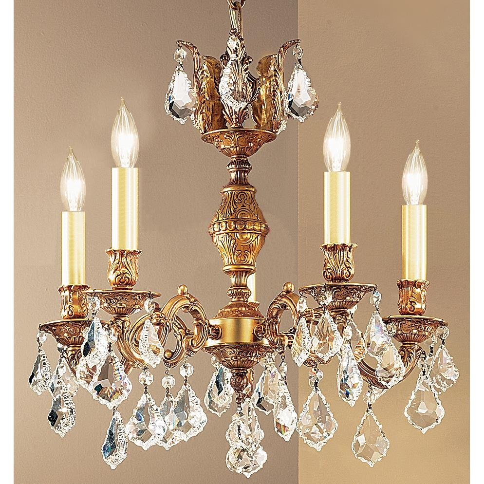 Classic Lighting Chandeliers Series Collection Chateau Within French Gold Chandelier (#1 of 12)