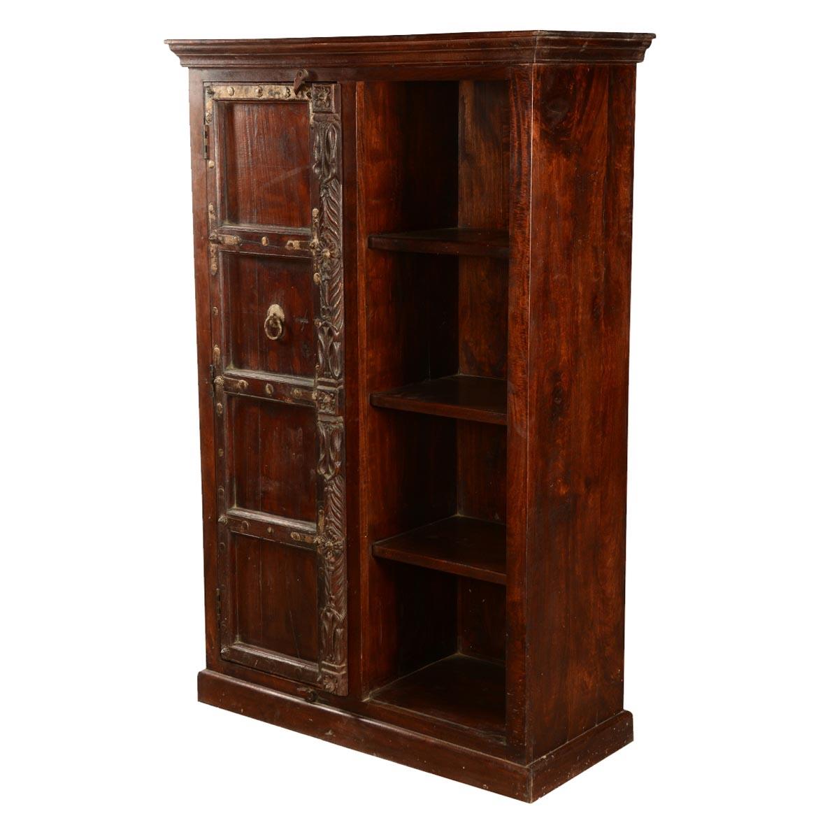 Classic Reclaimed Wood Wardrobe Bookcase Cabinet Regarding Classic Bookcase (#8 of 15)
