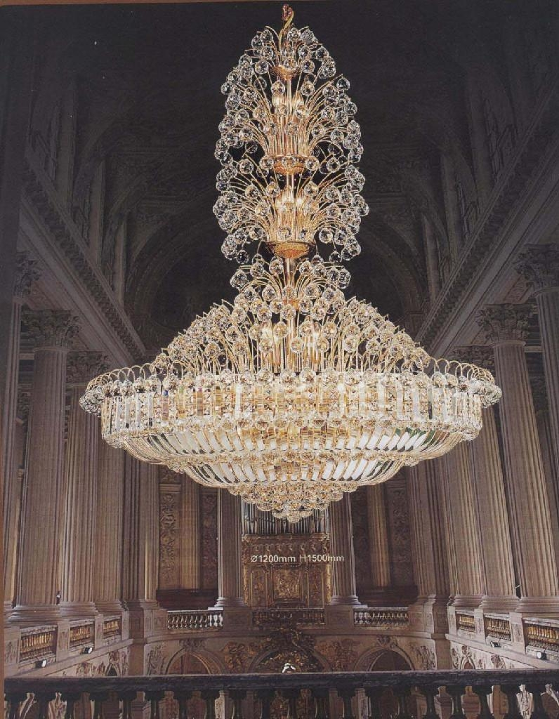 Classyc Large Crystal Chandeliers Advice For Your Home Decoration Pertaining To Big Chandeliers (#10 of 12)