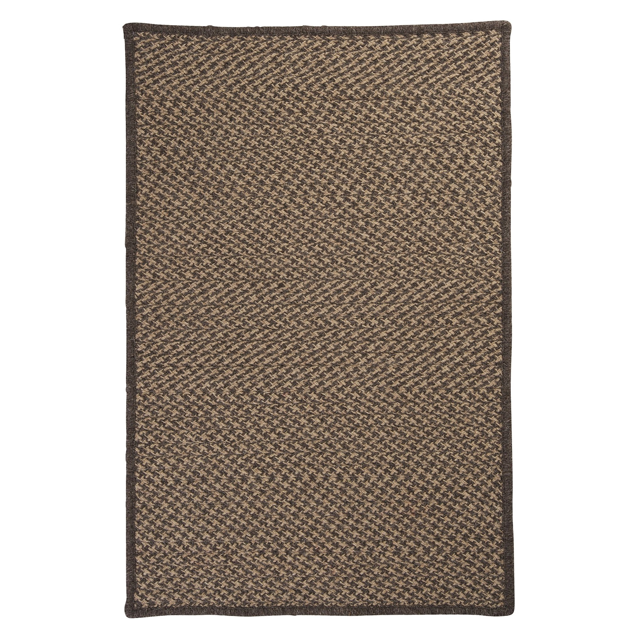 Colonial Mills Natural Wool Houndstooth Braided Caramel Area Rug Intended For Natural Wool Area Rugs (#2 of 15)