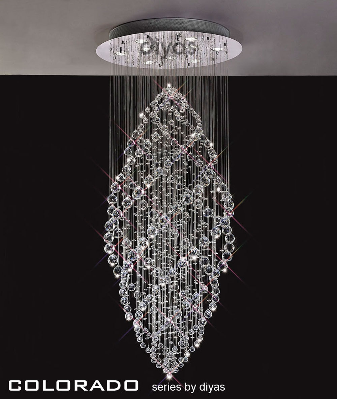 Colorado Crystal Stairwell Light Regarding Stairwell Chandelier Lighting (#4 of 12)