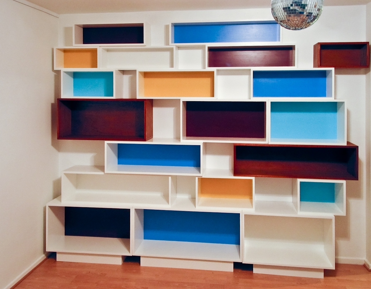 Popular Photo of Coloured Floating Shelves