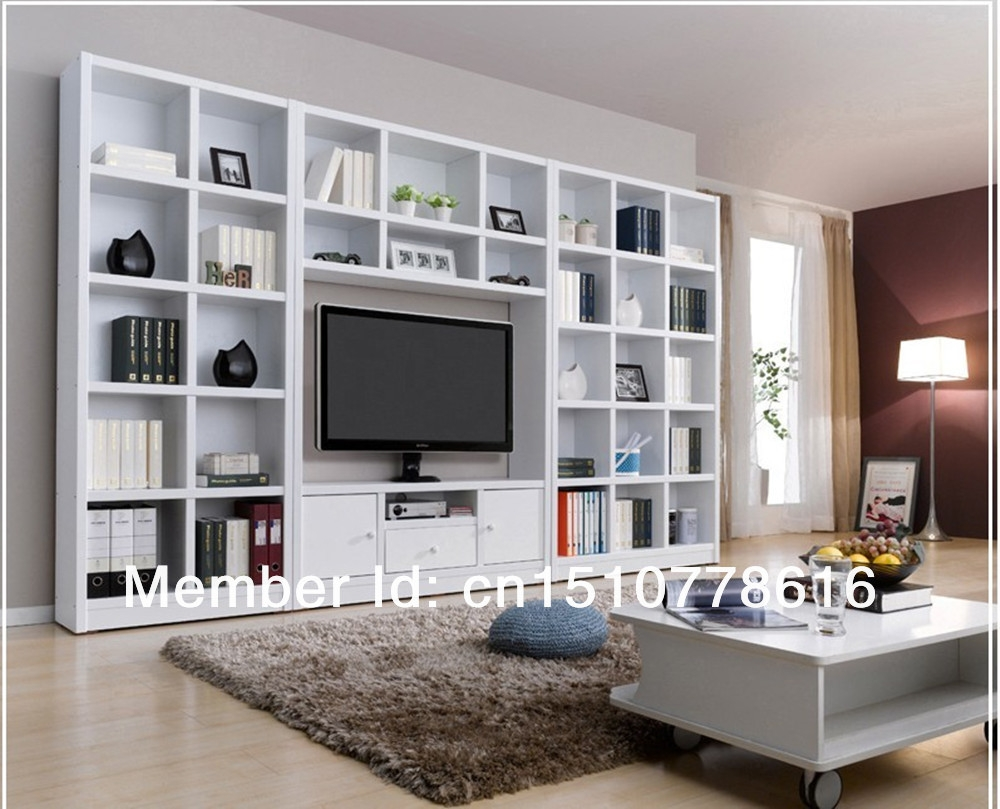 Combination Bookcase Tv Cabinet Brief Bookshelf Tv Cabinet Wine Inside Book Case Tv (#4 of 15)