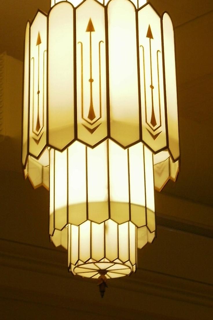 Compact Art Deco Chandelier Lighting 53 Art Nouveau Lighting Inside Large Art Deco Chandelier (#8 of 12)