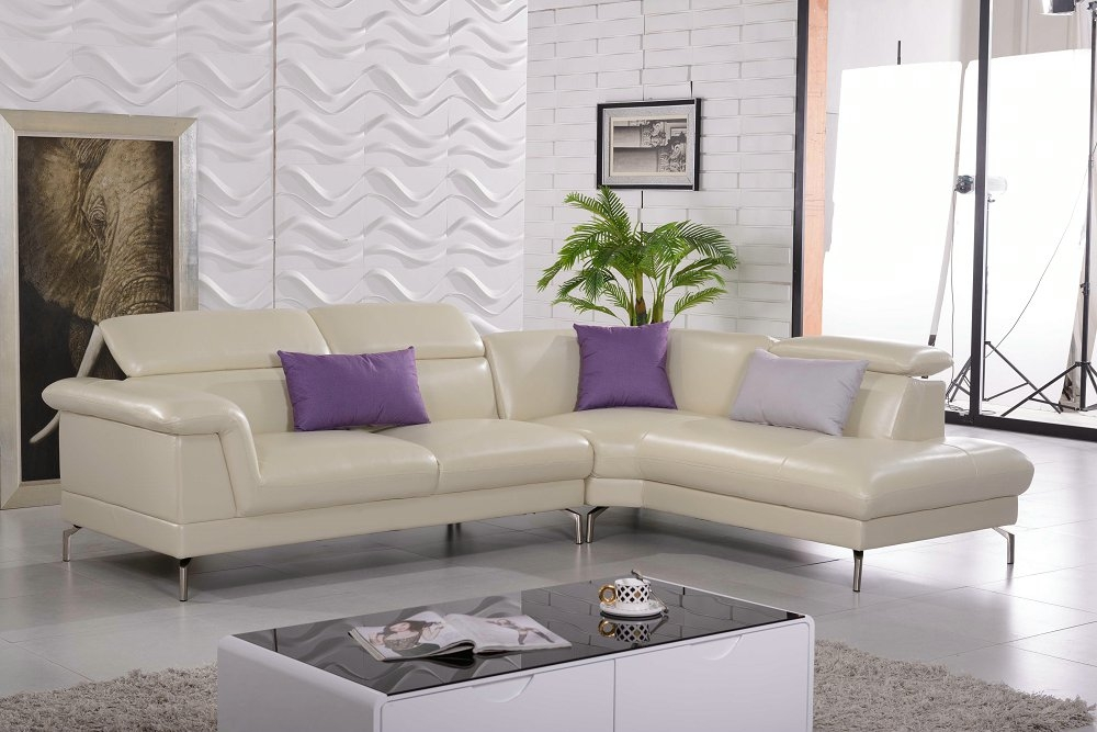 Compare Prices On Genuine Leather Sofa Online Shoppingbuy Low Regarding Cream Sectional Leather Sofas (#4 of 15)
