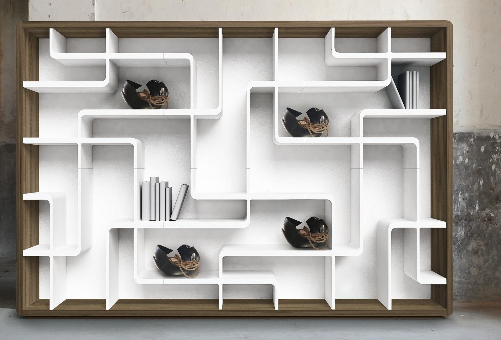 15 Ideas Of Contemporary Oak Shelving Units