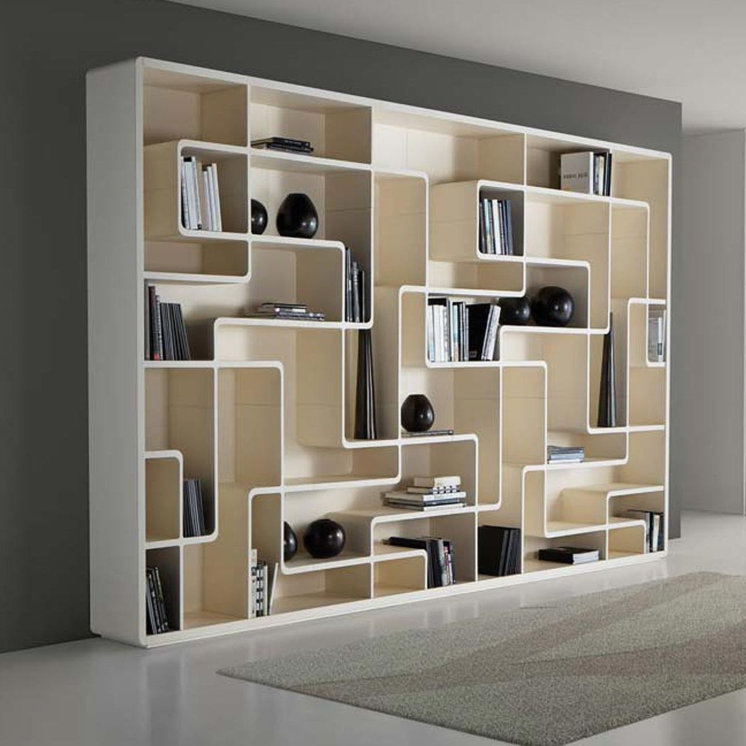 Contemporary Bookcase Oak Snake Giuseppe Bavuso Bross Italia Intended For Contemporary Bookcase (#8 of 15)