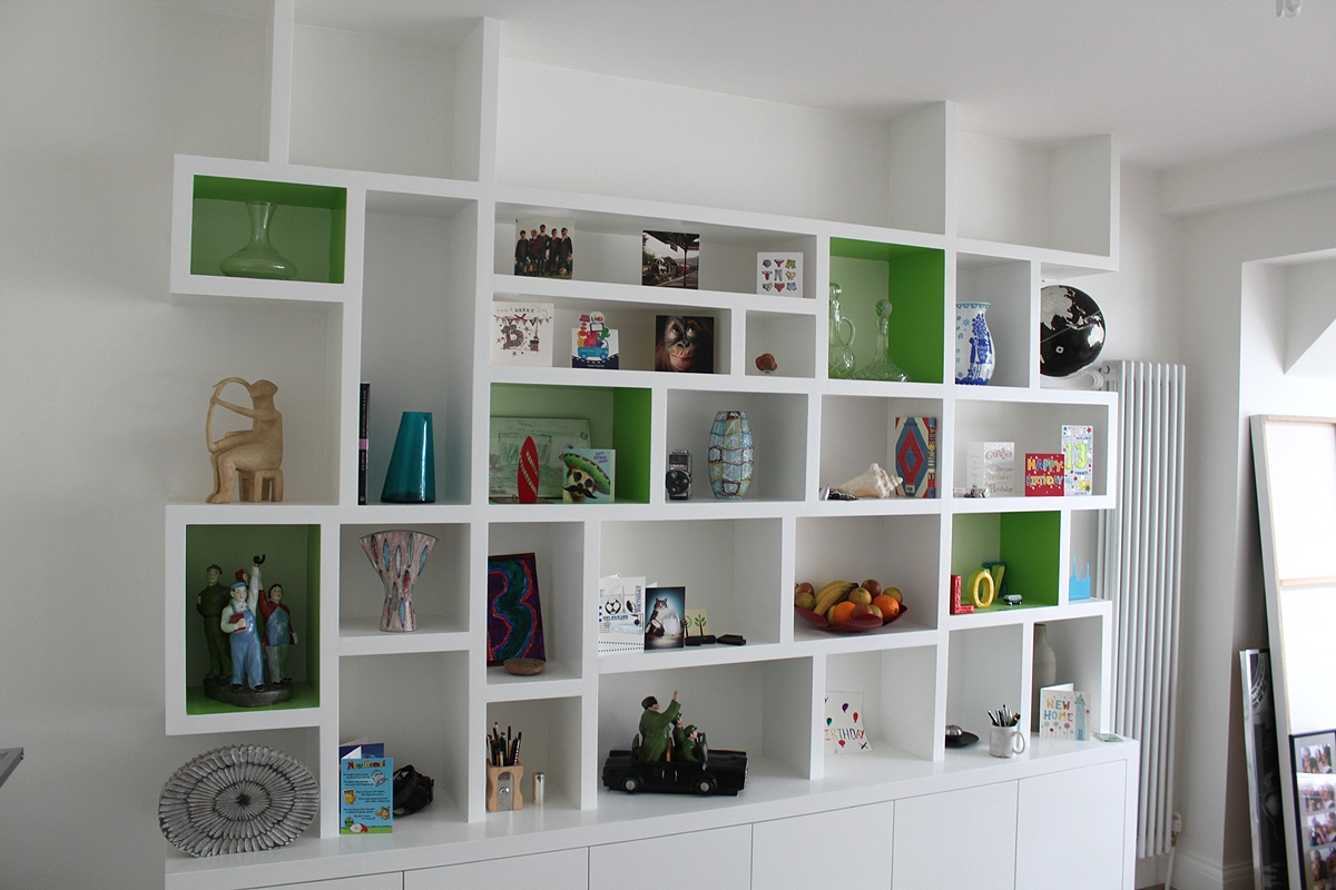 Contemporary Bookcases Throughout Fitted Shelving (#6 of 15)