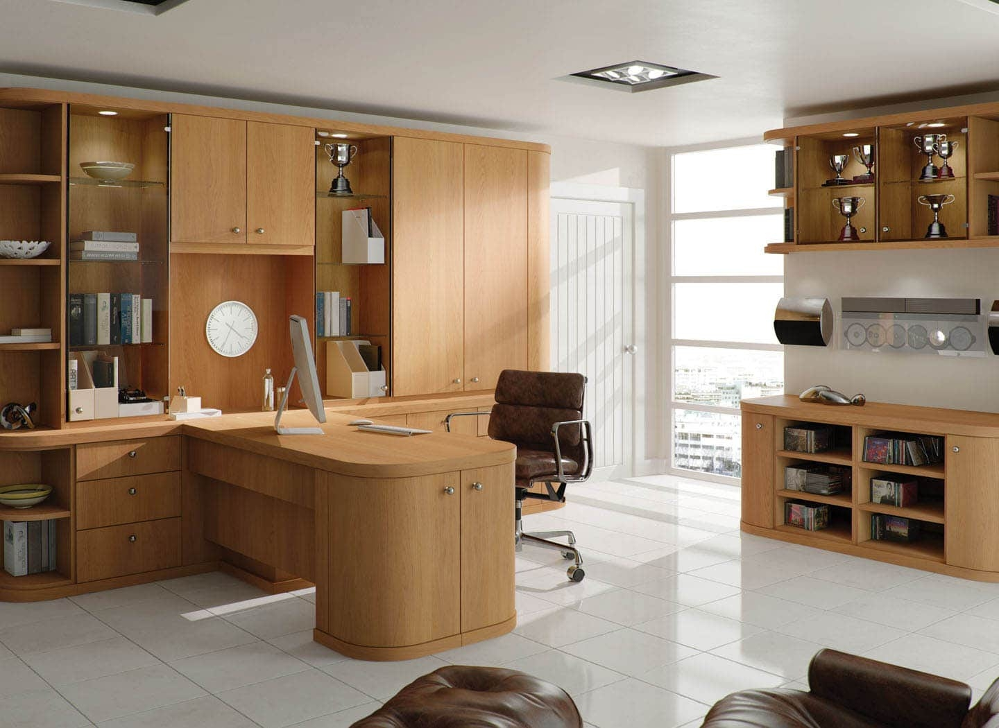 Contemporary Fitted Home Office Furniture Strachan With Regard To Fitted Office Furniture (#3 of 15)