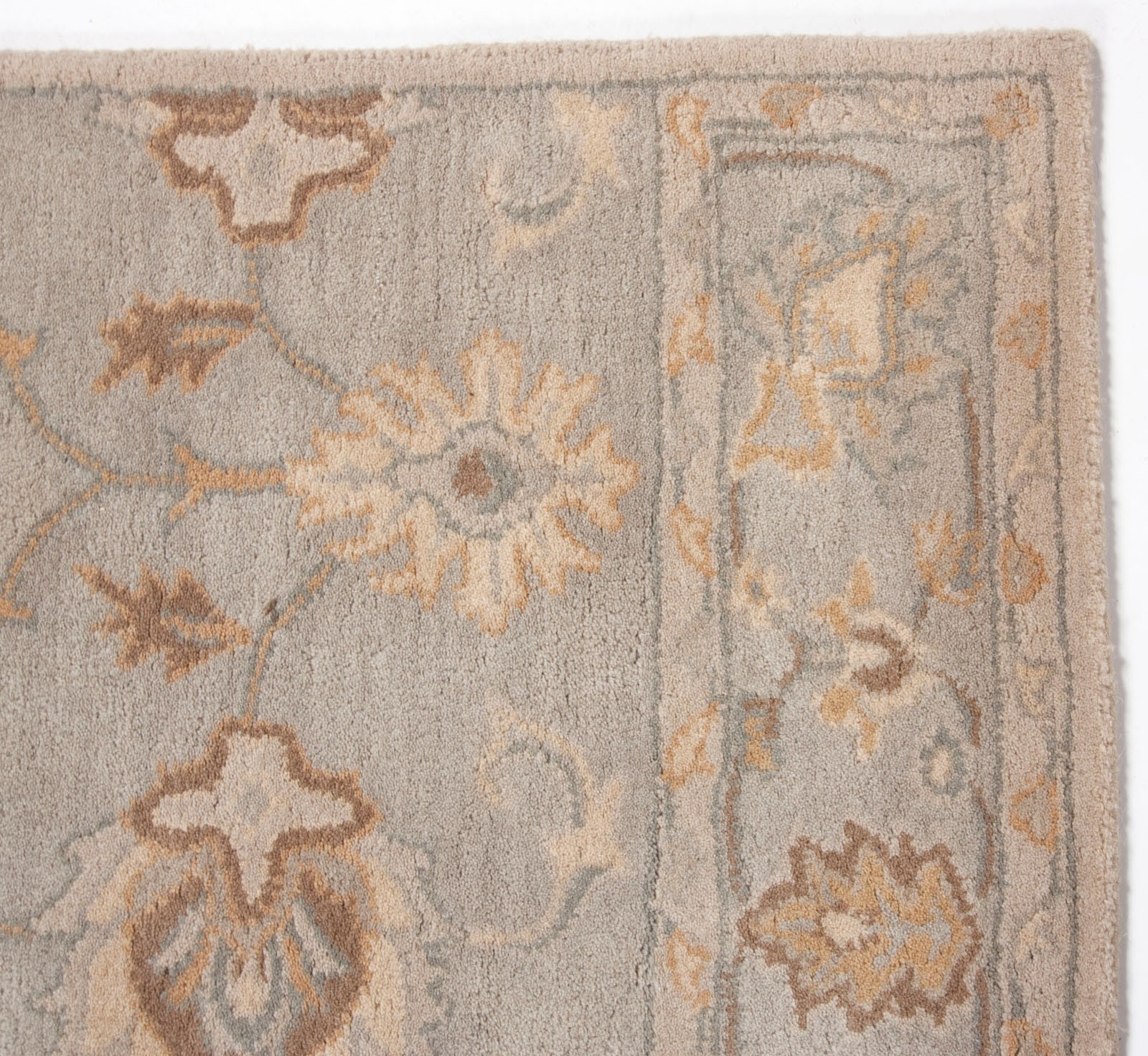 Contemporary Modern Wool Area Rug Carpet 5×8 Hand Tufted Beige With Regard To Wool Area Rugs 5× (#4 of 15)