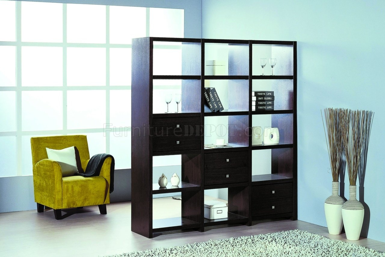 Contemporary Shelf Unitroom Divider Wadditional Drawers Regarding Large Bookshelf Units (#5 of 15)