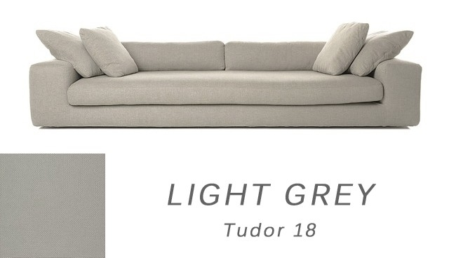 Contemporary Straton 4 Seater Light Grey Sofa Funiquecouk With Regard To Large 4 Seater Sofas (View 3 of 15)