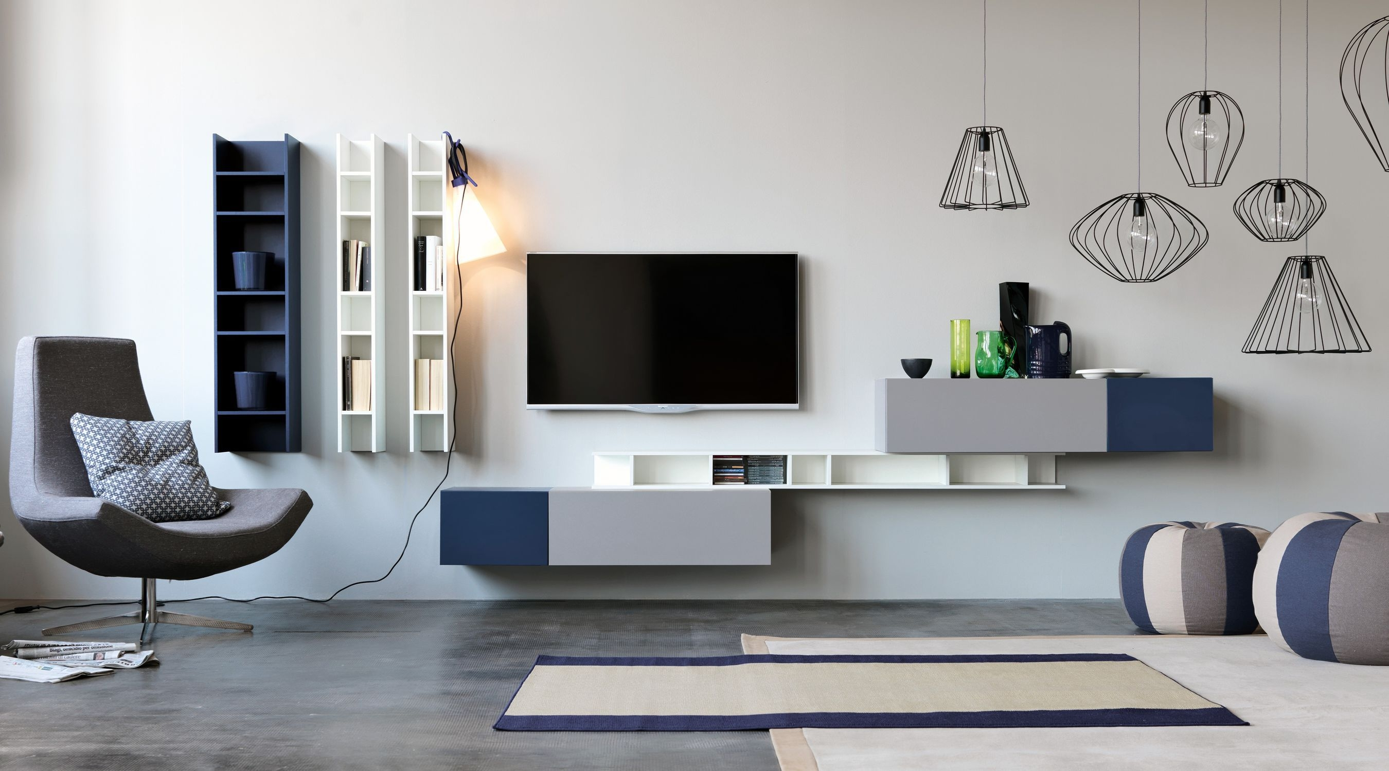Contemporary Tv Wall Unit Modular Citylife 14 Doimo Cityline With Tv Wall Unit (#2 of 15)