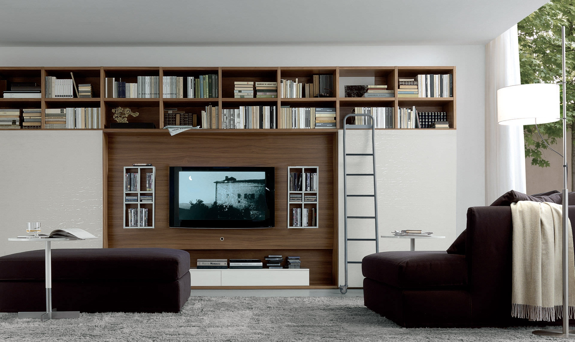 Contemporary Tv Wall Unit Open System Jesse Throughout Tv Wall Unit (#3 of 15)
