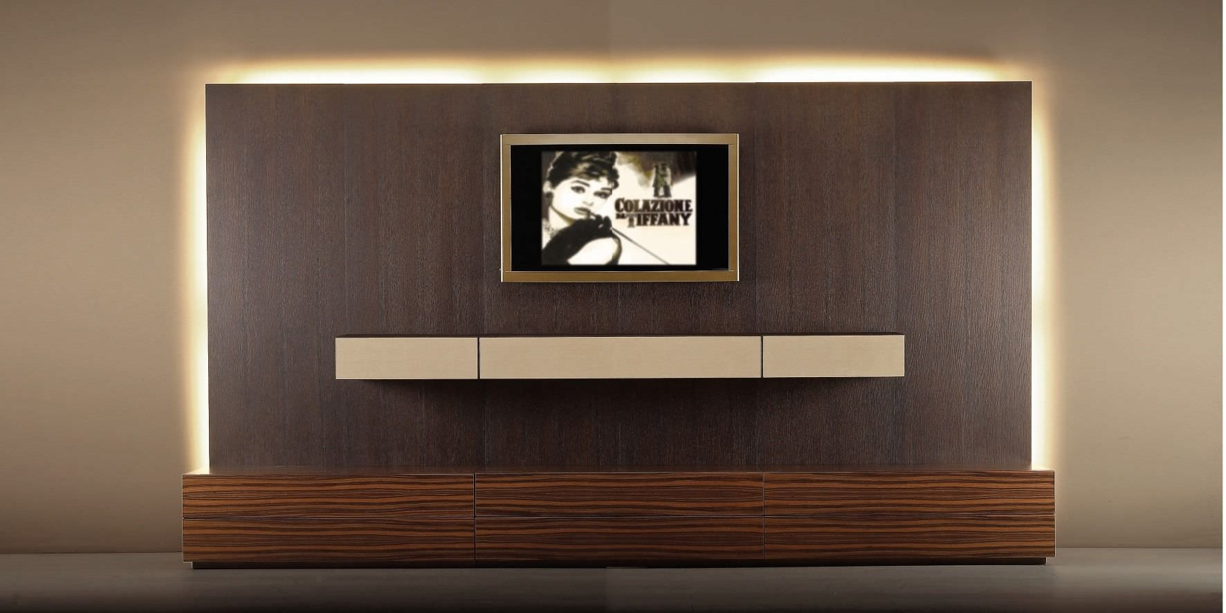Contemporary Tv Wall Unit Wood With Wooden Cabinet Wonderful With Regard To Tv Wall Unit (#5 of 15)