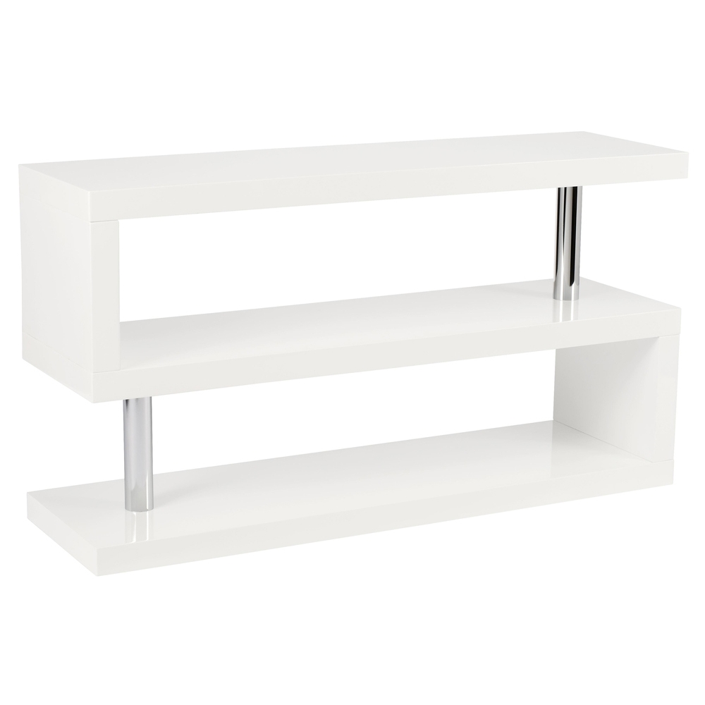Contour Tv Unit With Shelving White Dwell Within White Shelving Units (#1 of 15)