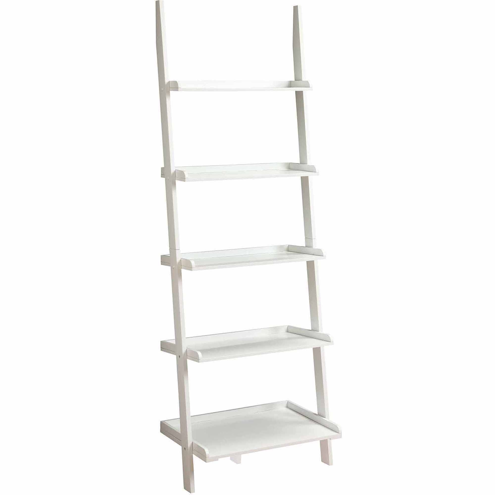 Convenience Concepts French Country Bookshelf Ladder White For White Ladder Shelf (View 14 of 15)