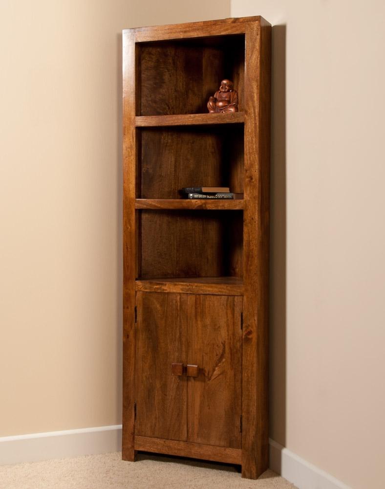Corner Bookcase Furniture Beautiful Solid Indian Mango Corner Inside Corner Bookcase (#6 of 15)