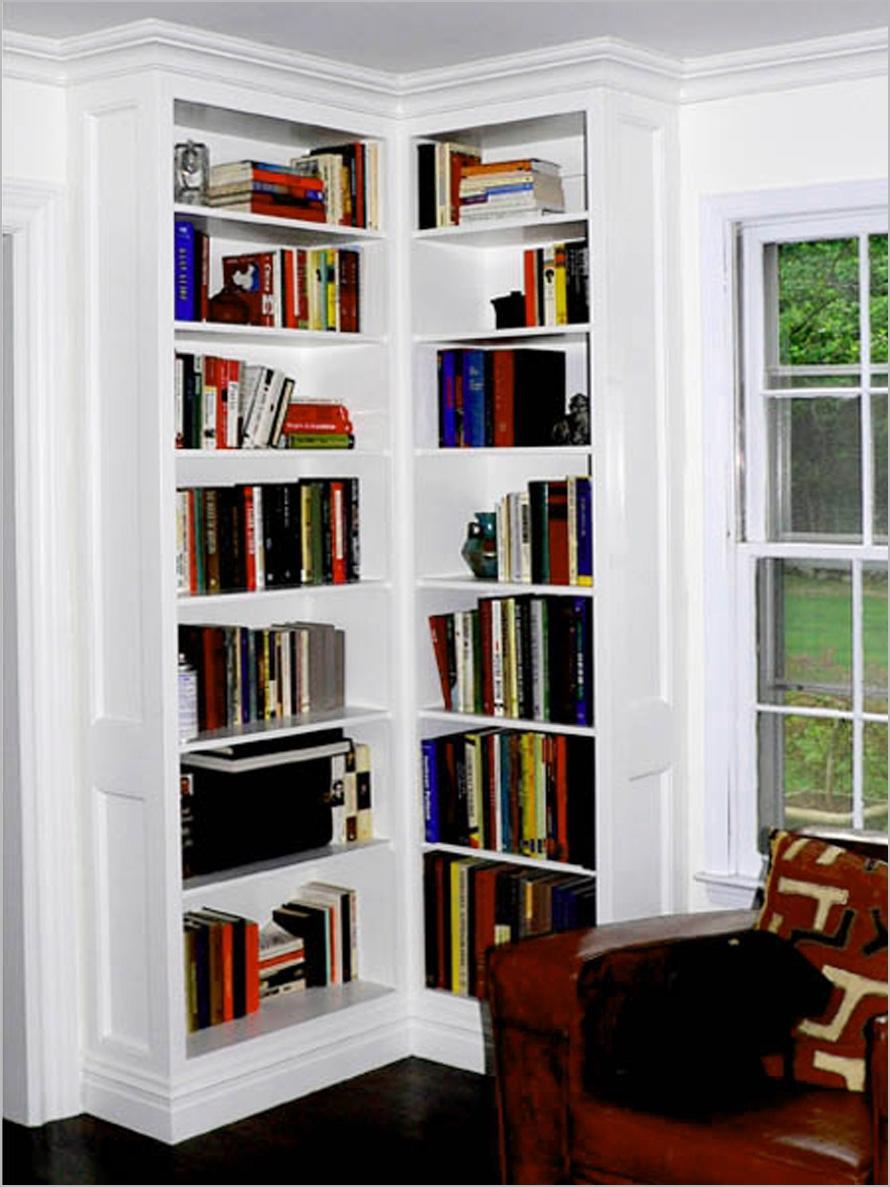 Corner Bookcase White Within Corner Bookcase (#7 of 15)