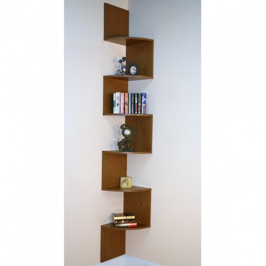 Corner Bookshelf The Concept To Economize A Space Small Corner Within Bookshelves Designs For Home (#9 of 15)