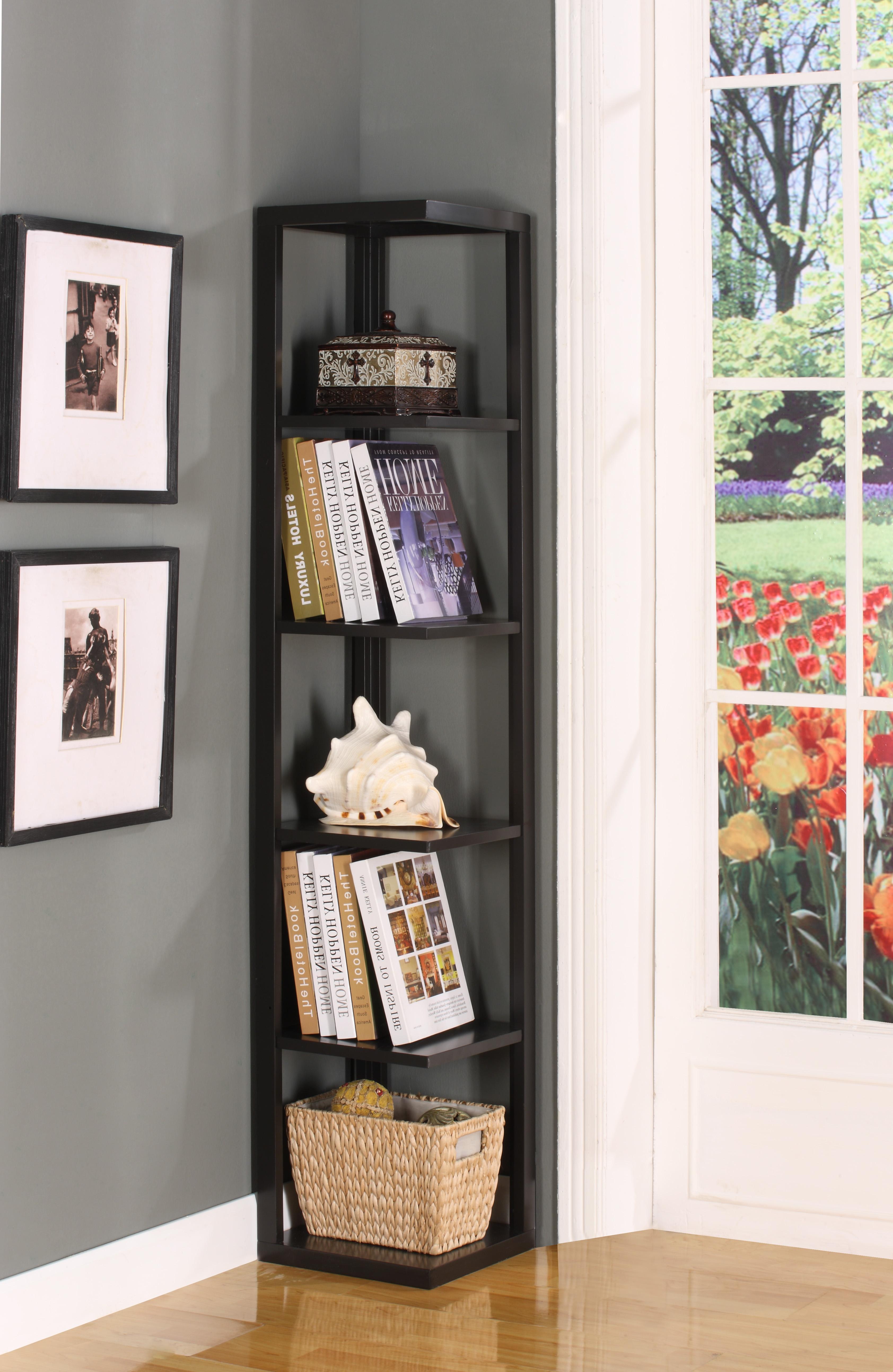 Corner Bookshelves Intended For Corner Bookcase (#9 of 15)