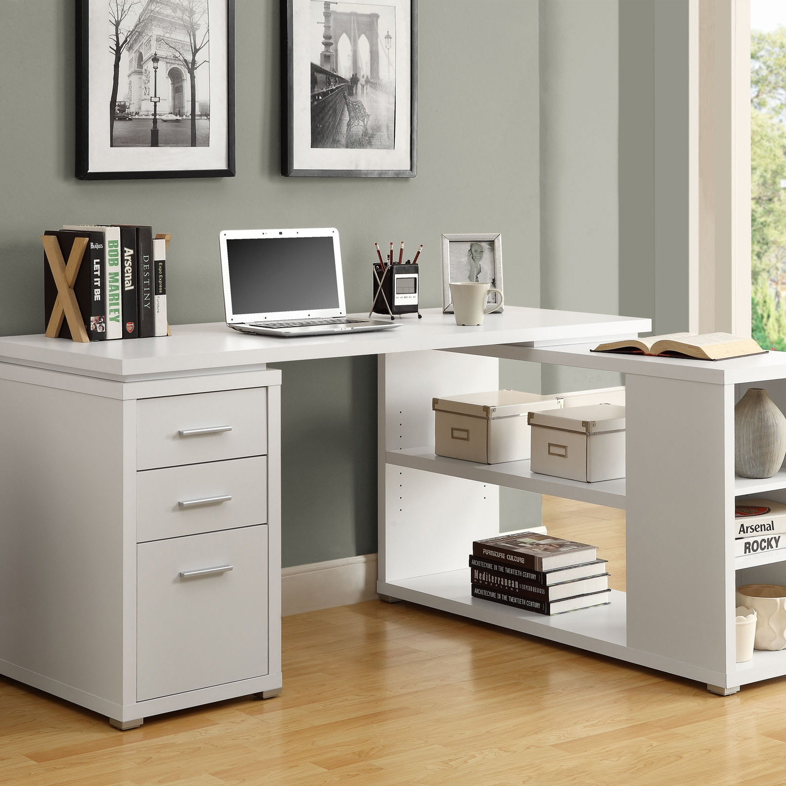 Corner Desks For Home Office Furniture Yo2mo Home Ideas Intended For Desk With Matching Bookcase (#5 of 15)