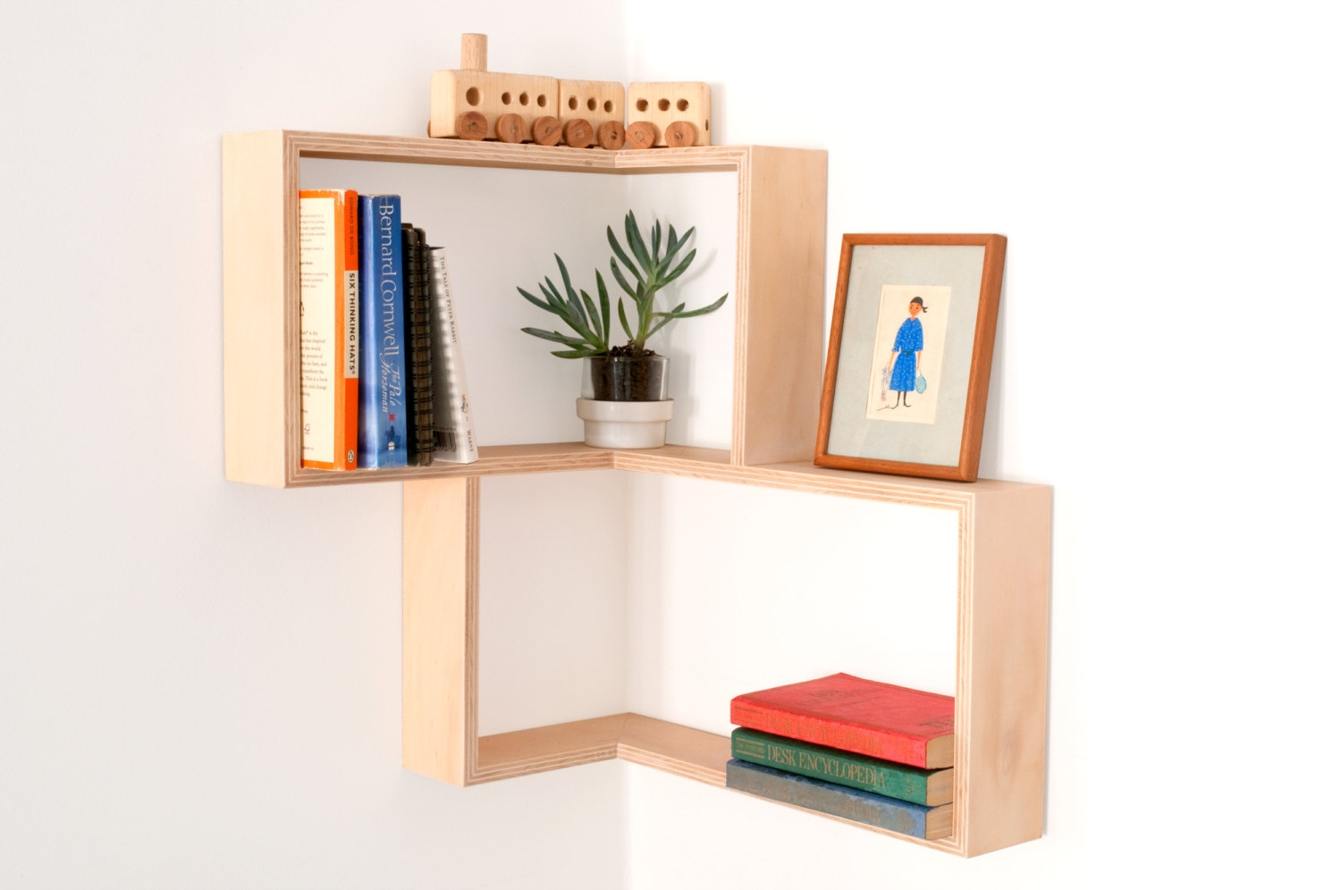 Corner Shelf Display Cabinet Book Vintage Mid Century Unit With Corner Shelf (#6 of 12)
