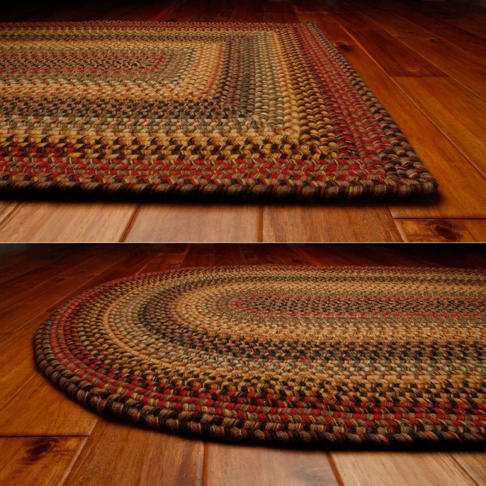 Country Style Braided Wool Rugs Budapest Within Braided Wool Area Rugs (#10 of 15)