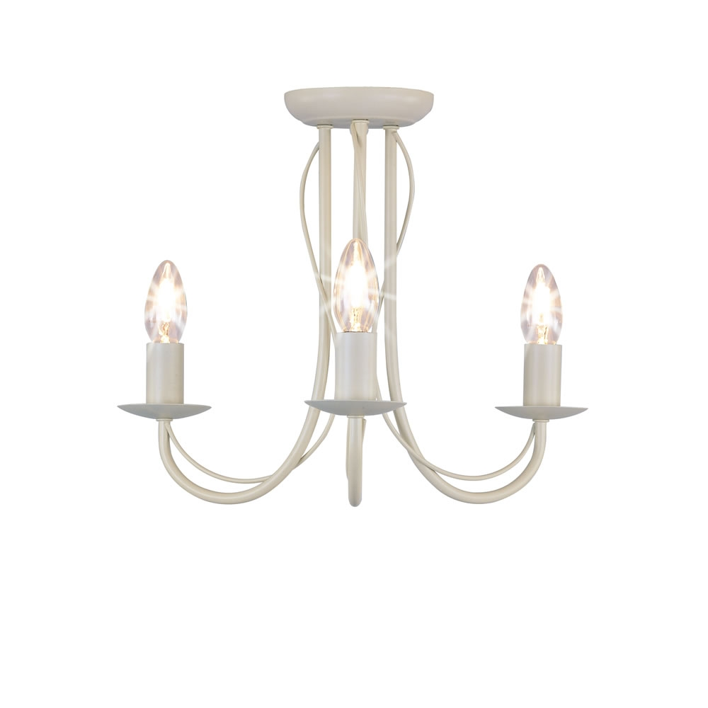 Cream Ceiling Lights Uk Roselawnlutheran Within Flush Fitting Chandeliers (#5 of 12)