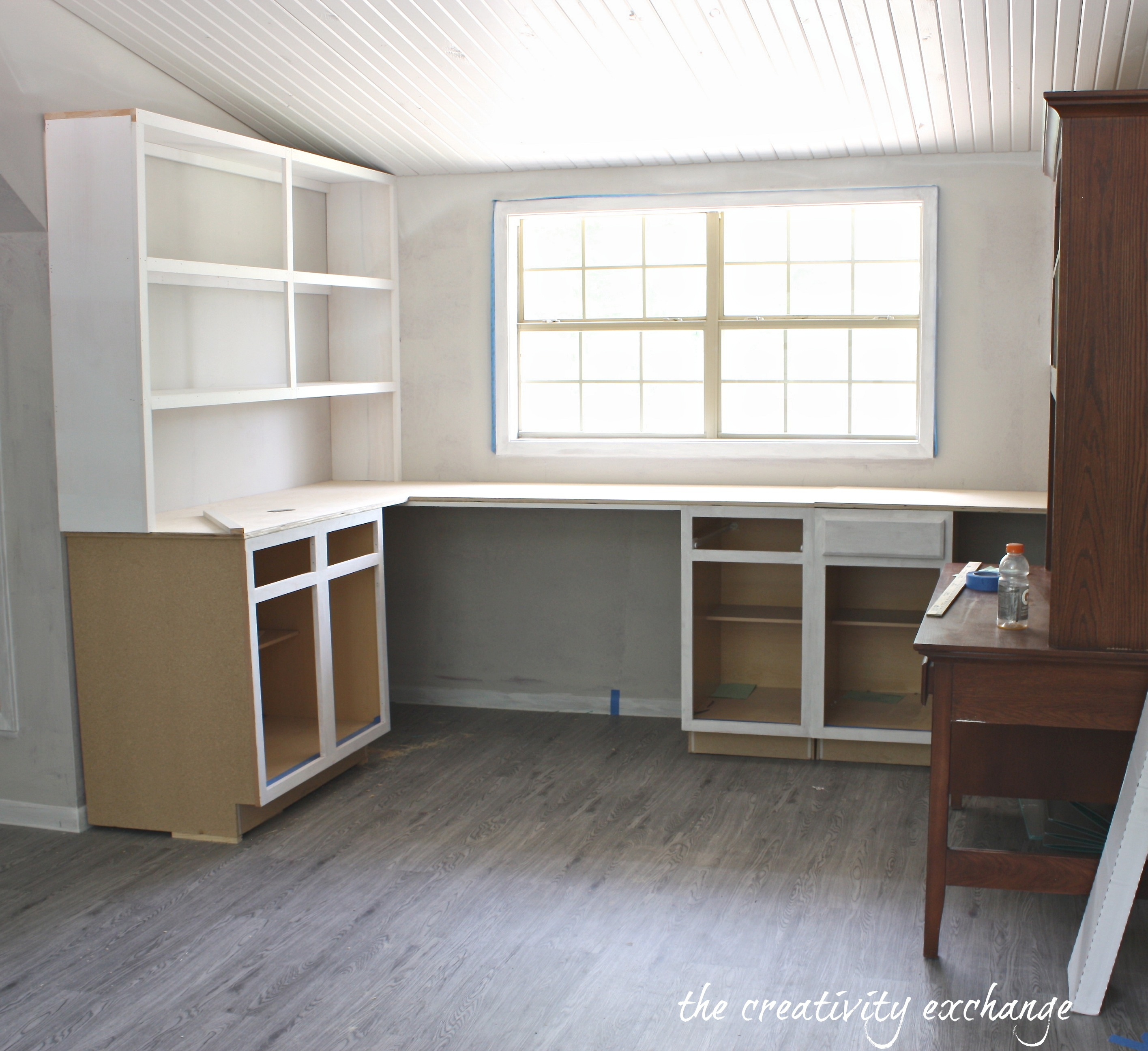 Create Built In Shelving And Cabinets On A Tight Budget Throughout Built In Cupboard Shelving (View 7 of 15)