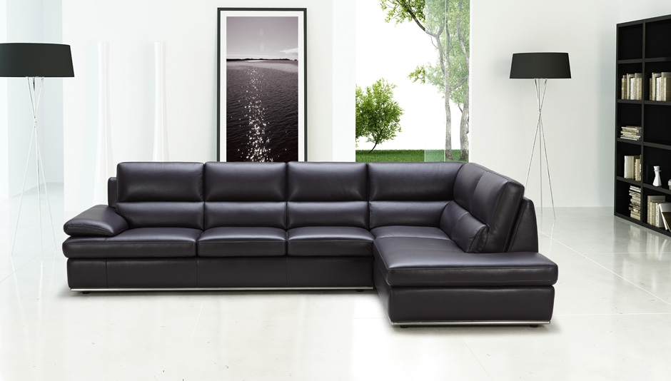Creative Of Black Sectional Leather Sofa Interiorvues Intended For Black Leather Sectional Sleeper Sofas (#8 of 15)