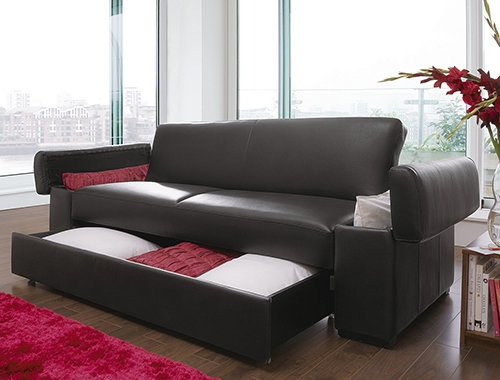 Creative Of Leather Sofa Bed With Storage With Deluxe Faux Leather Throughout Sofa Beds With Storages (#2 of 15)