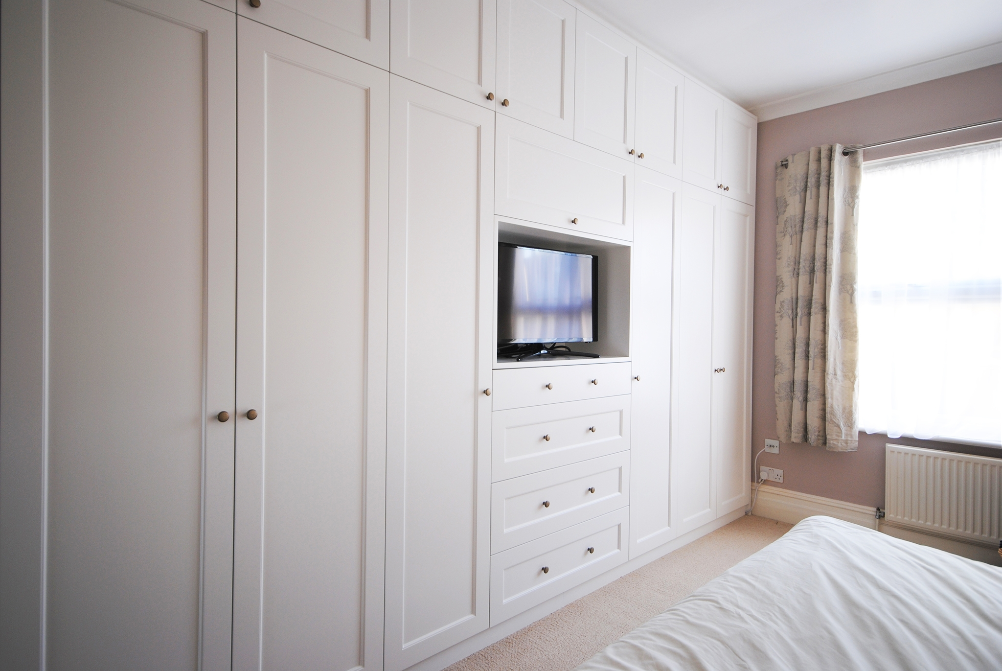 Creative Woodwork Combined A Tv Unit And Wardrobe To Make This In Built In Wardrobes With Tv Space (View 8 of 10)