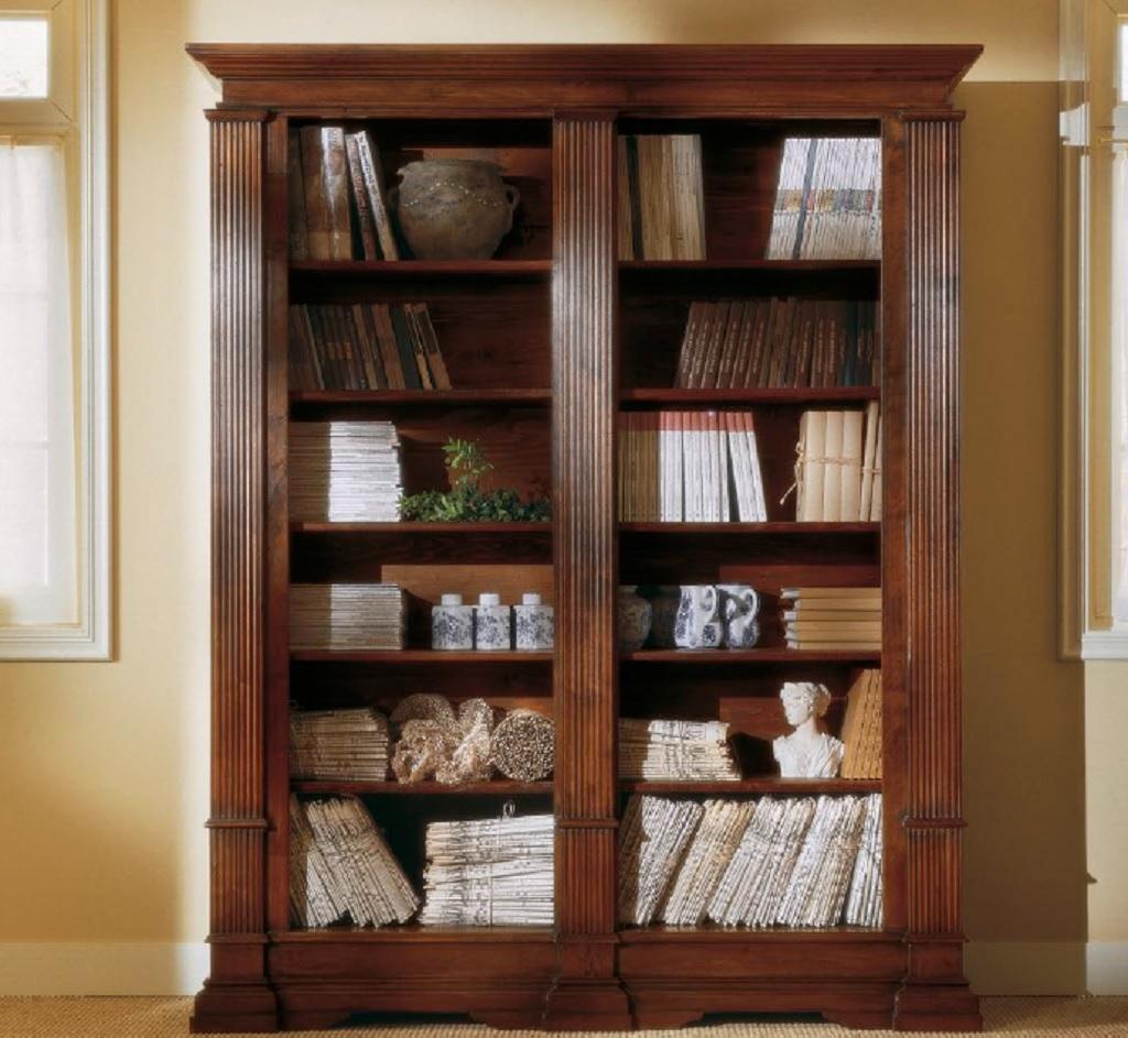 Creta Bookcase Ne Italy Importers Pertaining To Classic Bookcase (#9 of 15)
