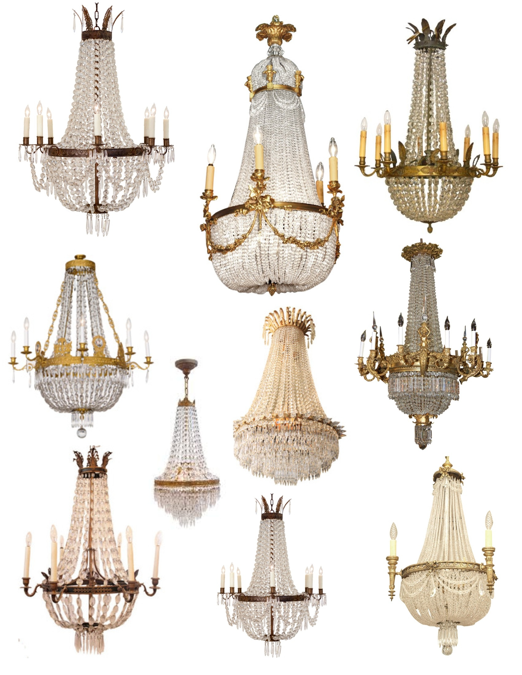 Crowned Magnificence The French Empire Crystal Chandelier Throughout Vintage French Chandeliers (#6 of 12)