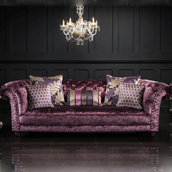 Crushed Velvet Google Search Shab Chic And Other Diy Ideas Throughout Velvet Purple Sofas (#7 of 15)