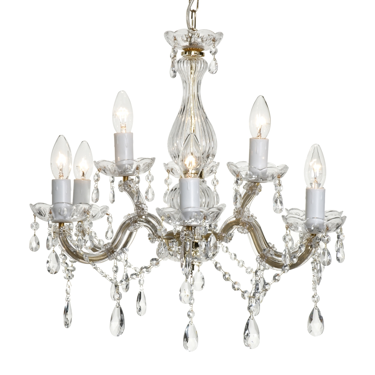 Crystal Chandelier Home Design Ideas Regarding Crystal Gold Chandelier (#6 of 12)