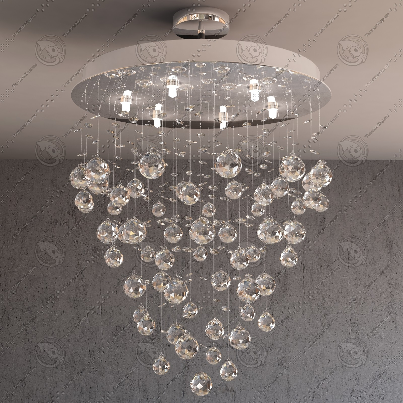 12 Inspirations Of Waterfall Crystal Chandelier