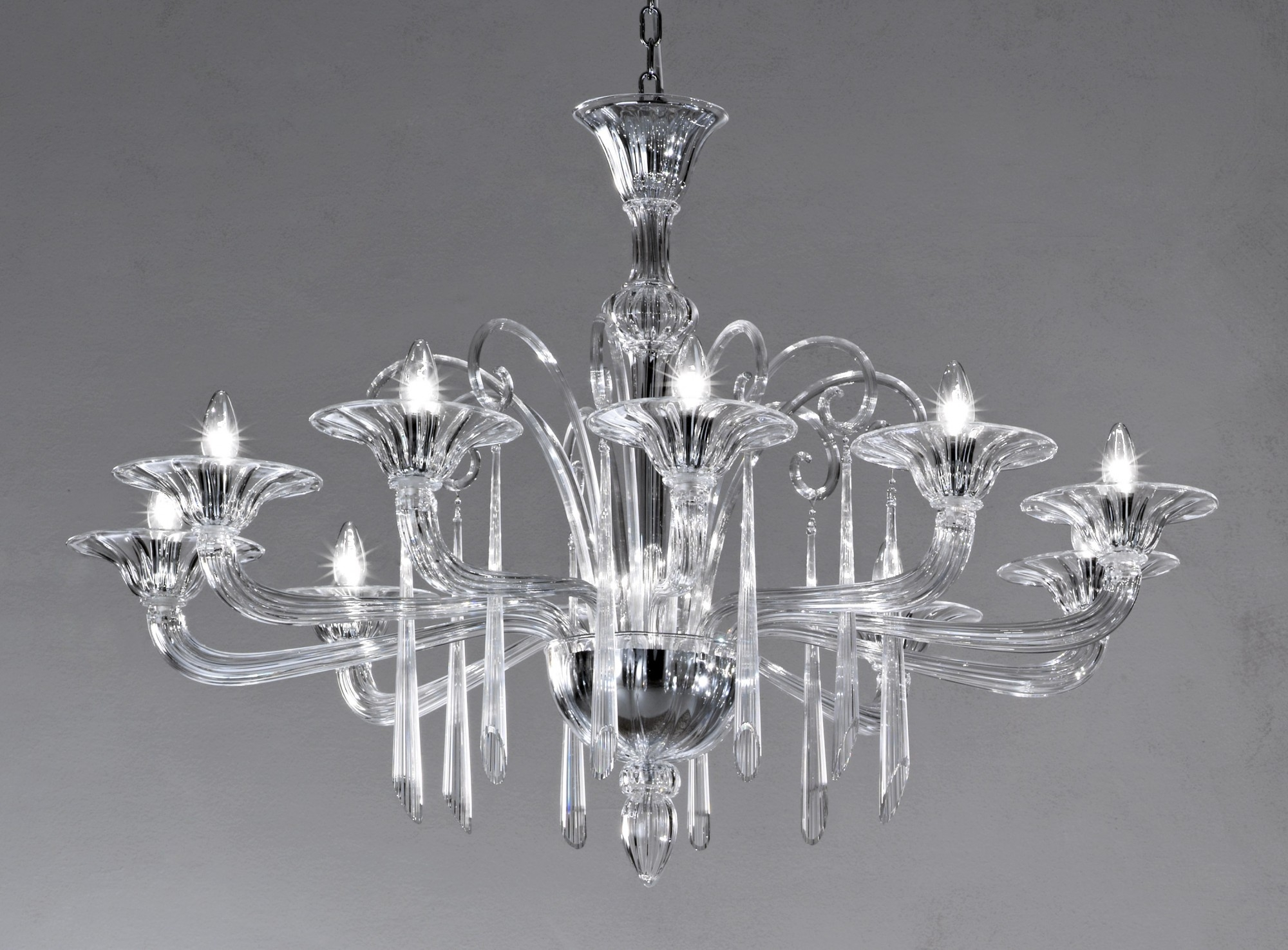 Crystal Clear Modern Murano Chandelier Dml6012k10 Murano With Regard To Murano Chandelier (#3 of 12)