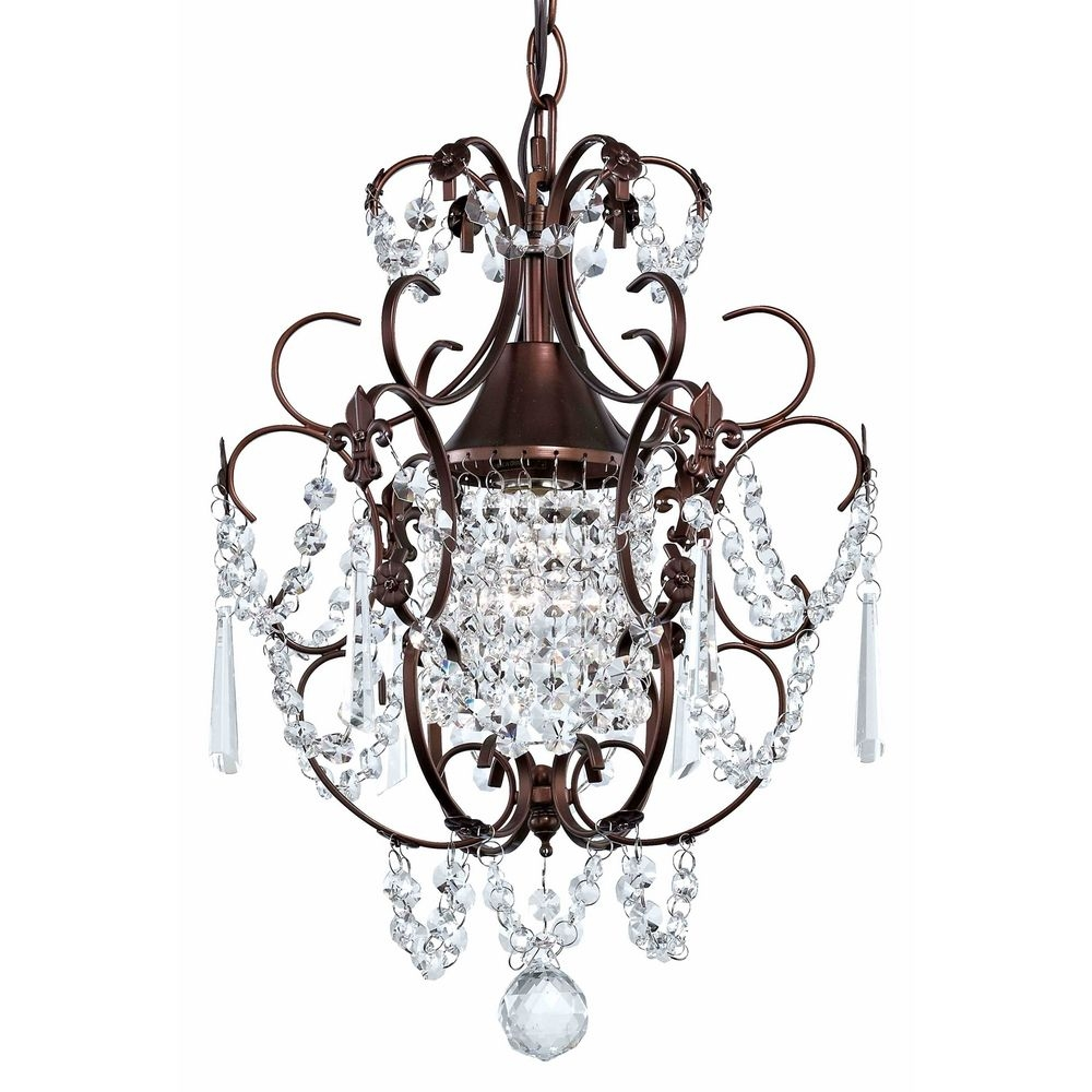 Popular Photo of Small Bronze Chandelier