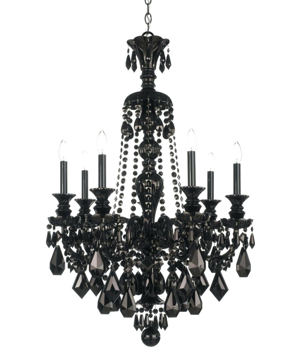Crystal Pendant Chandelier Lighting Black And White Chandelier With Regard To Large Black Chandelier (#8 of 12)